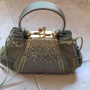 Judith Leiber Silk and crystal evening bag